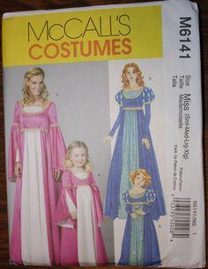Medieval Renaissance Dress Costume Pattern  by FeminineDress, $4.25