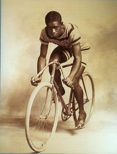 Marshall 'Major' Taylor The great 1899 World champion of the 1 mile sprint. Thank god parts like that went out of style
