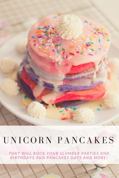 July 2018 – letmebestormy Delicious, colorful, and full of magic. Is there anything these Unicorn Pancakes can't make more magical? Use them for slumber parties, birthdays, and more! Fete Audrey, Unicorn Foods, Tasty, Yummy Food, Breakfast For Kids, Kids Birthday Breakfast, Cute Breakfast Ideas, Dessert Recipes, Desserts
