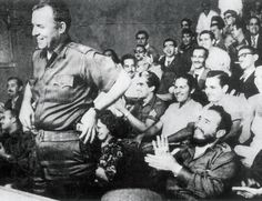 """William Alexander Morgan being applauded by Fidel Castro, in Havana in 1959. Morgan said that he had joined the Cuban Revolution because """"the most important thing for free men to do is to protect the freedom of others."""""""