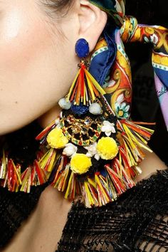 labellefabuleuse: Earrings backstage at Dolce & Gabbana, Spring 2013