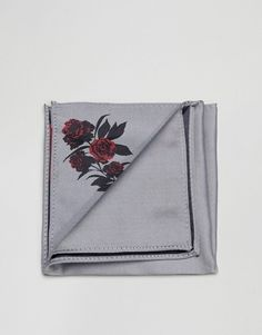 ASOS Pocket Square In Light Gray