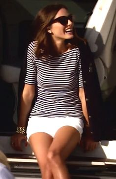 Olivia Palermo in spring stripes...The look