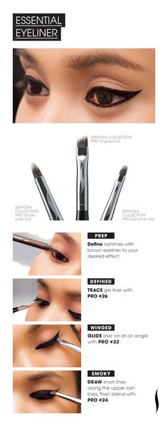 "MAC ""Fafi"" Collection PRO Brush HOW TO: Essential Eyeliner Up makeup - the life palette - em cosmetics by michelle phan All Things Beauty, Beauty Make Up, My Beauty, Beauty Secrets, Beauty Hacks, Hair Beauty, Beauty Tips, Beauty Bible, Beauty Care"