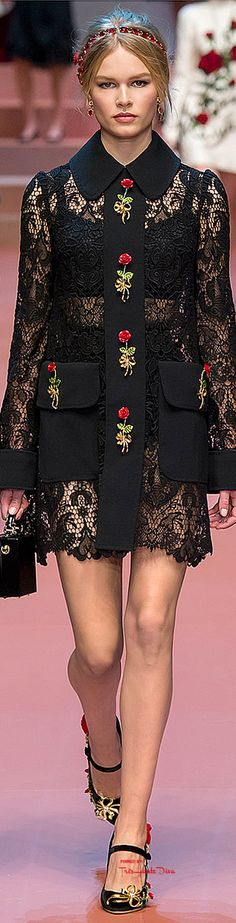 Cocktail dress / karen cox. #MFW Dolce & Gabbana Fall 2015 RTW ♔THD♔