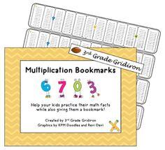 3rd Grade Gridiron: Friday Freebie - Multiplication Bookmarks!