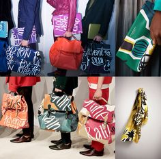 Burberry Prorsum SS15 Accessories - Slouchy shape and organic colours