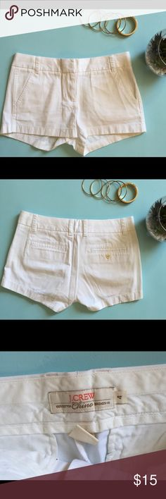 J Crew White Chino Shorts sz 4 In very good condition J. Crew Shorts