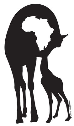 Africa Logo' by Derouiche salaheddine Africa Map, Out Of Africa, West Africa, South Africa, Afrika Tattoos, Animal Silhouette, Africa Silhouette, African Symbols, Afrique Art