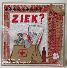 Anja Zom kaartenblog 3d Cards, Stampin Up Cards, Get Well Soon, Marianne Design, Get Well Cards, Letter Board, Wells, Card Making, Design Inspiration