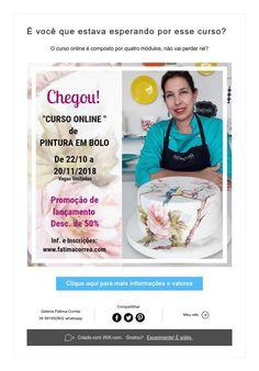 É você que estava esperando por esse curso? Cake, Hand Painted Cakes, Brazil, Waiting, Kuchen, Torte, Cookies, Cheeseburger Paradise Pie, Tart