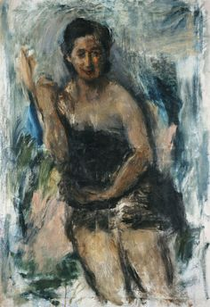Giorgos Bouzianis Liza Kottou, 1947 oil on canvas Donation of Alexandra Katidou Grakioti and The J. Permanent Collection of the National Gallery, National Gallery, Expressionist Artists, Greek Art, Art Database, Artist Gallery, Color Of Life, Conceptual Art, Medium Art, Figure Painting