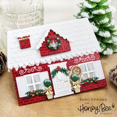 12 Days of Christmas: Winter House Shaped Card - 12 Days of Christmas: Winter House Shaped Card : Honey Bee Stamps - Christmas Blessings, Christmas Cards To Make, 12 Days Of Christmas, Xmas Cards, Handmade Christmas, Holiday Cards, Christmas Crafts, Chrismas Cards, Stamped Christmas Cards