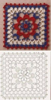 Transcendent Crochet a Solid Granny Square Ideas. Inconceivable Crochet a Solid Granny Square Ideas. Crochet Motifs, Granny Square Crochet Pattern, Crochet Diagram, Crochet Chart, Crochet Squares, Love Crochet, Crochet Flowers, Granny Squares, Point Granny Au Crochet
