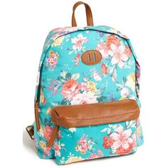 Steve Madden Canvas Backpack ($36) ❤ liked on Polyvore featuring bags, backpacks, accessories, purses, bolsos, day pack backpack, floral pattern backpack, print canvas backpack, floral print backpack and floral canvas backpack