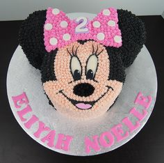 Image result for minnie mouse buttercream birthday cakes