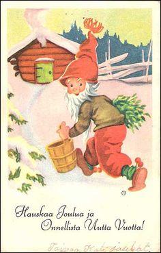 Olavi Vikainen Christmas Cards, Merry Christmas, Scandinavian Christmas, Happy New Year, Norway, Teddy Bear, Painting, Animals, Fictional Characters