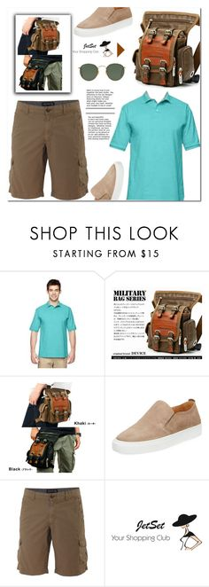 """""""Jet Set Shop #1"""" by samra-bv ❤ liked on Polyvore featuring Supply Lab, Woolrich, Ray-Ban, men's fashion, menswear, military, MensFashion and mensshirt"""