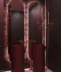 Create a passionate interior by applying the bold red tone in your space! Spa Interior, Lobby Interior, Bathroom Interior Design, Red Colour Palette, Color Palettes, Red Color, Washroom Design, Interior Design Portfolios, Red Home Decor