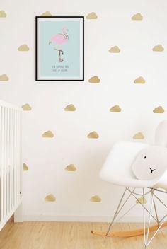 Nubes de oro pegatinas de vinilo de pared / por SimplychildSA