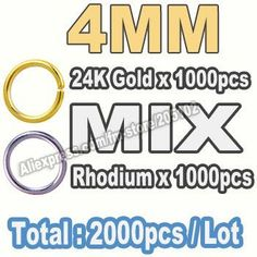1600pcs/lot,Mix Sizes Open Jump Ring 3 4 5 6 7 8mm link loop Silver Gold Rhodium Black Bronze for DIY Jewelry Findings Connector
