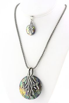 {Semi-Annual Sale} Under The Sea Necklace & Earring Set $24 FREE SHIPPING!