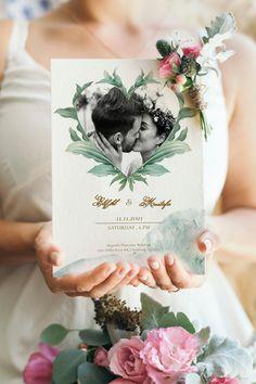 Printing Websites, Online Printing, Wedding Invitation Templates, Wedding Invitations, Types Of Printer, Green Leaves, Rsvp, Invite, Reception