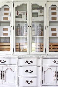 Office Storage Hutch Makeover | China Cabinets, Chalk Paint And Storage