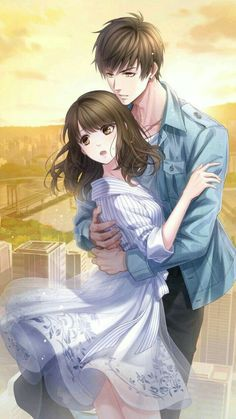 Image in Anime collection by Farah_Carew on We Heart It Anime Love Couple, Manga Couple, Anime Couples Manga, Cute Anime Couples, Romantic Anime Couples, Anime Couples Hugging, Couple Art, Kawaii Anime, Anime Cupples
