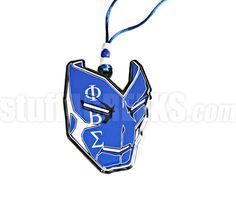 Phi Beta Sigma Mask Tiki Necklace with Greek Letters