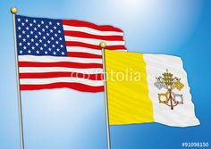 usa and vatican flags