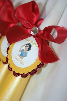 Snow White Princess  Birthday Party Noisemakers 8 by BoopteyLu, $16.80