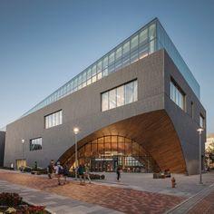 University Architecture, Library Architecture, Architecture Plan, Entrance Design, Facade Design, Southern Architecture, Library Design, Kids Library, Famous Architects