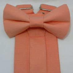 Ring Bearer Suspenders, Groomsmen Suspenders, Bowtie And Suspenders, Free Fabric Samples, Free Fabric Swatches, Teal Blue Color, Peach Colors, Usher Attire, Peach Bow Tie