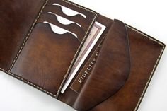 Leather wallet for women. Handtooled and by GiordanoArtLeather -SR