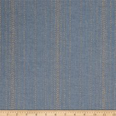 Andover Printed Chambray  Stitch Lines Blue/Gold from @fabricdotcom  This lightweight chambray fabric features classic colors with modern printing resembling hand stitching. Perfect for button down shirts, dresses, skirts, tops, even quilting and crafts! Colors include denim blue and metallic gold accents.