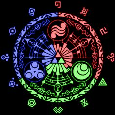 The TriForce symbol on the Gate of Time in Skyward Sword