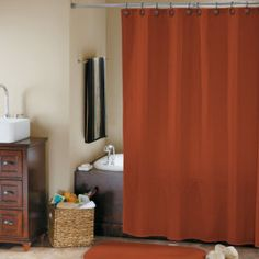 Master Bathroom Inspiration Love The Chevron Shower Curtain With - Gray and orange shower curtain