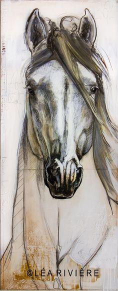 """Léa Rivière painting :""""Le doux rêveur""""  Nouvelle toile - new painting 60x24 in…"""