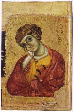 Giunta Pisano (Giunta Capitini, detto) - Crocifisso di San Ranierino, particolare - c. 1250 - tempera e oro su tavola - Museo Nazionale di San Matteo, Pisa