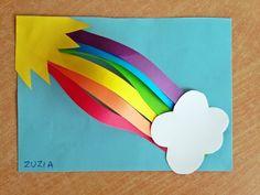 KOLOROWY ŚWIAT DZIECI: Przestrzenna tęcza Kids Art Class, Art For Kids, Monster Bookmark, Rainbow Rice, Animal Crafts For Kids, Creative Kids, Origami, Kindergarten, Children