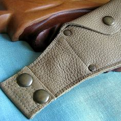 Deluxe Leather Wrist Wallet Cuff with concealed by sewlutionsbyamo