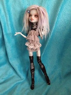 Ooak Monster High Repaint Fashion ART Doll Frankie Stein | eBay