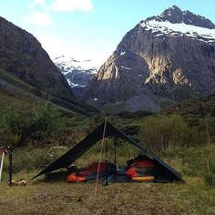 Home is where you stake it. As seen here, with this Tarp 10 in the Southern Alps of New Zealand. Stealth Camping, Camping Tarp, Bushcraft Kit, Tarp Shelters, Camping Shelters, Outdoor Fun, Outdoor Camping, Outdoor Gear, Ultralight Backpacking
