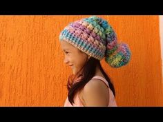 GORRO SLOWCHY A CROCHET PARA NIÑOS Y ADULTOS / SLOUCHY HAT TO CROCHET FOR CHILDREN AND ADULTS / - YouTube