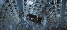 Ultra-modern Parking Garage--what happens if the lift fails?