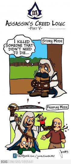 Assassins Creed Logic.