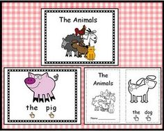 The Animals mini-book - use with The Big Red Barn - includes pointing finger to reinforce one to one correspondence