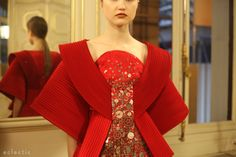 Ilja Dutch Fashion Designer Haute Couture SS14 Paris Fashion Week pleats folded orgami dress Rothko inspired origin - kimono
