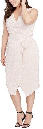 Rachel Roy Plus Size Women's Foiled Faux Wrap Dress